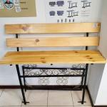 Скамейка деревянная со спинкой